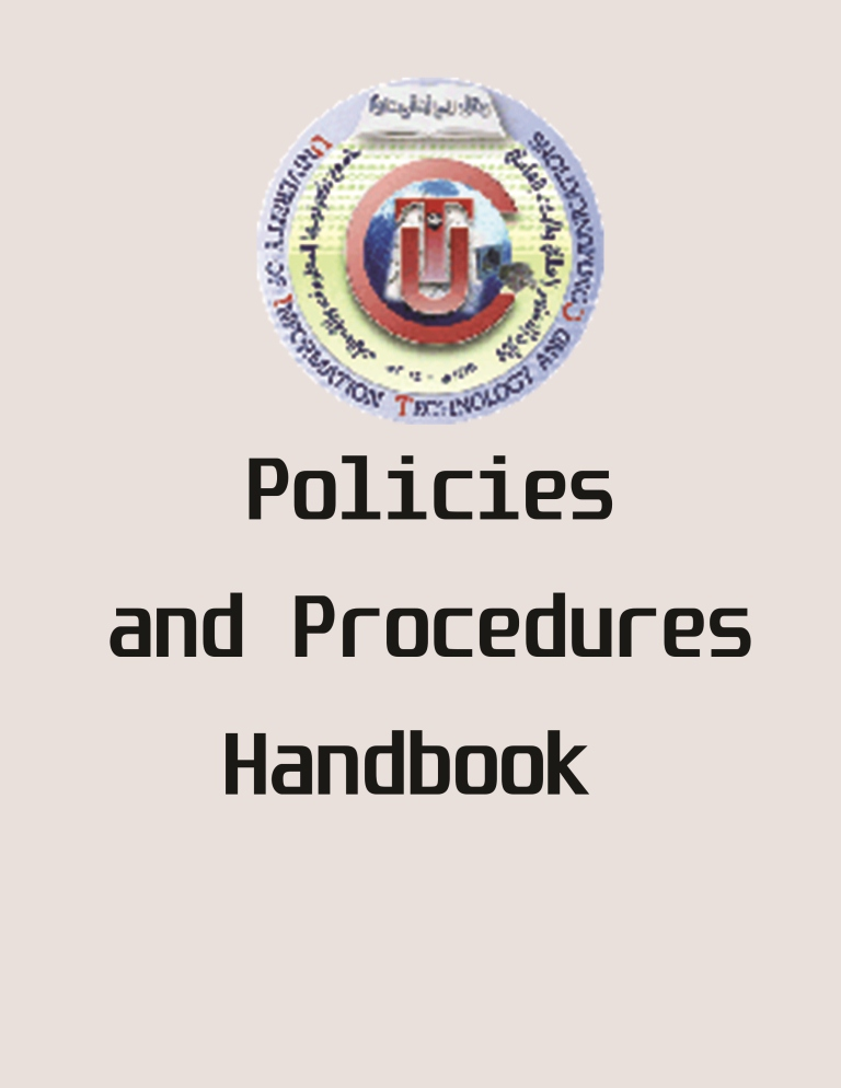 Policies and Procedures handbook